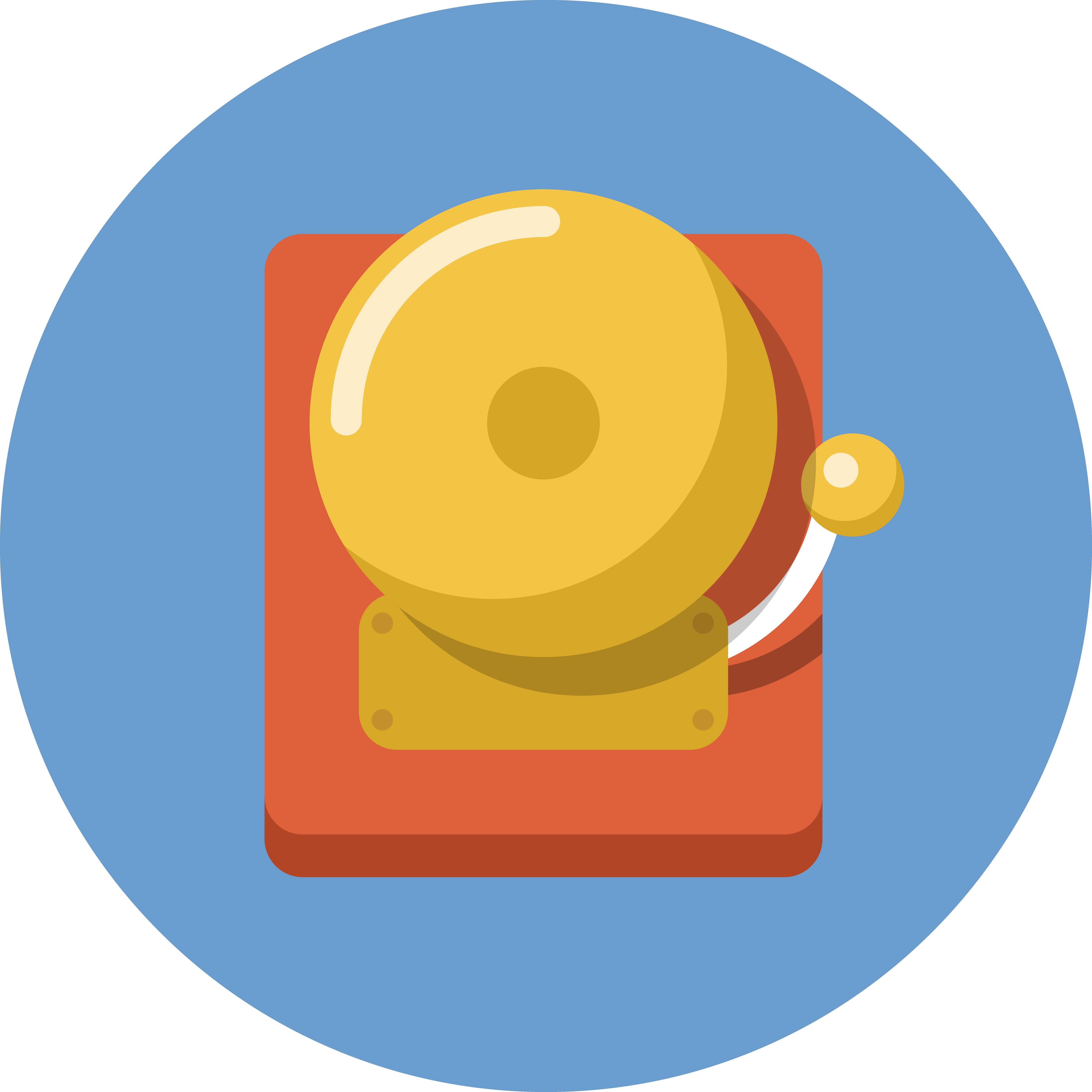 Boxing Bell Isolated Vector