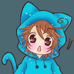Boy cat ear hood - Boy And Cat PNG