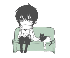 File:A boy with a black cat.png - Boy And Cat PNG