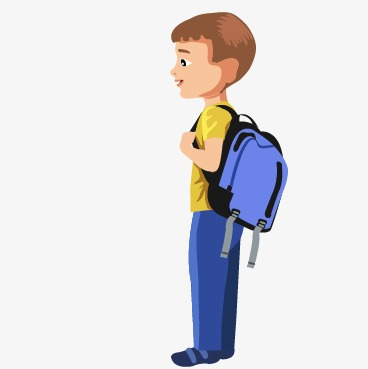 middle school student, Cartoon Boys, Vector Boys PNG and Vector - Boy At School PNG