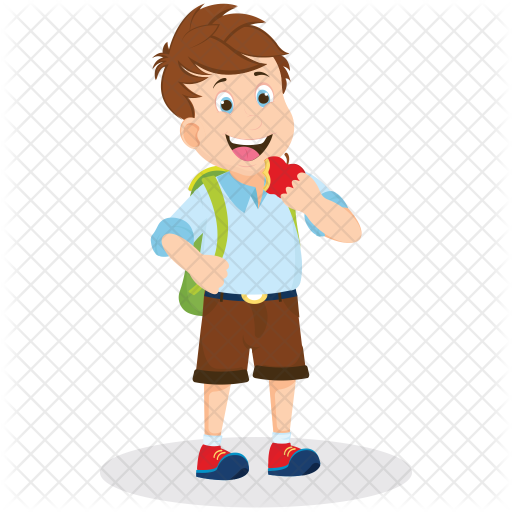 Painter School Boy Icon - Boy At School PNG