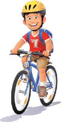 Bikes and Bicycles - Boy Riding Bike | Clipart - Boy Bike PNG