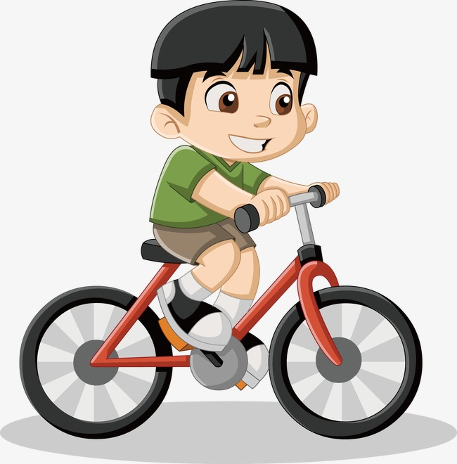 little boy riding a bike vector, Little Boy, Bicycle, Cartoon Characters PNG  and - Boy Bike PNG