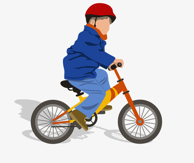 vector color cartoon ride bike villain, Vector Villain, Colored Boy,  Cartoon Villain PNG - Boy Bike PNG