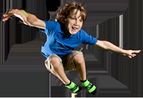 Boy jumping into foam pit - Boy Jumping PNG HD