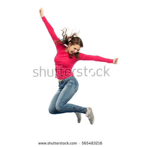 happiness, freedom, motion and people concept - smiling young woman jumping  in air over - Boy Jumping PNG HD