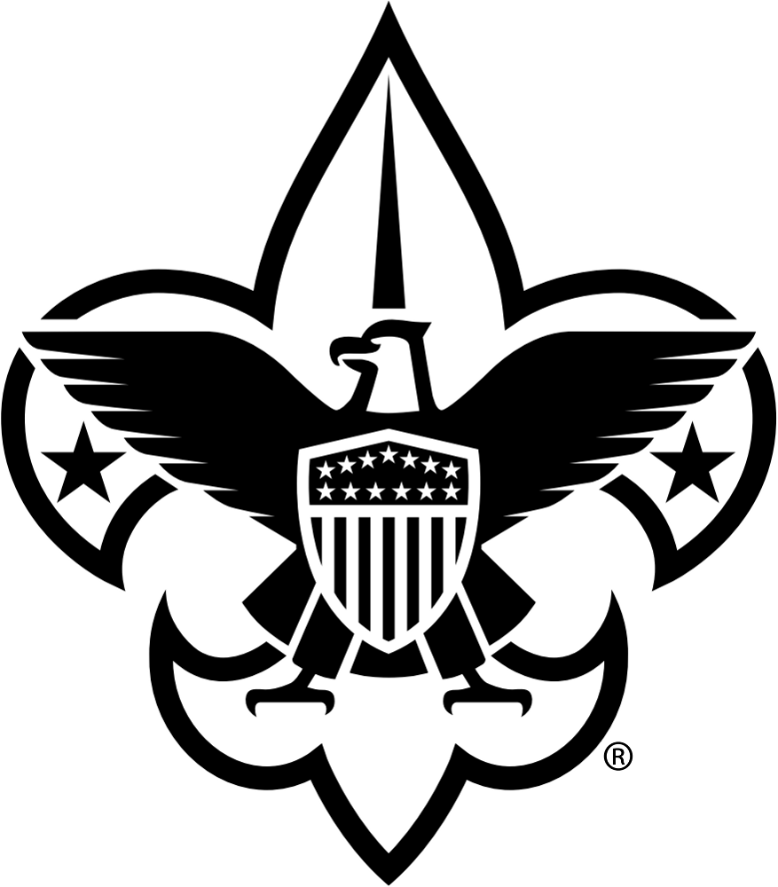 BSA Corporate Logo Black and White PNG 877 x 1000 - Boy Scouts PNG HD