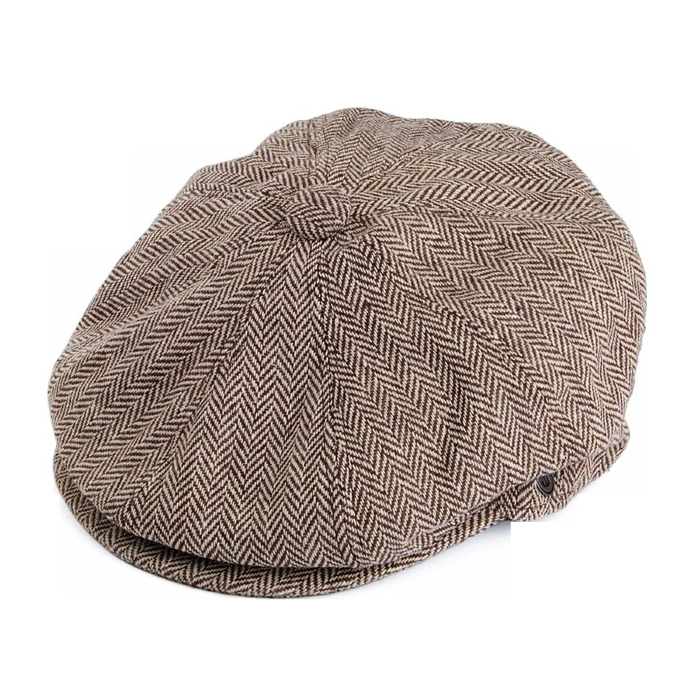 Jaxon Herringbone Newsboy Cap - Boy With Hat PNG
