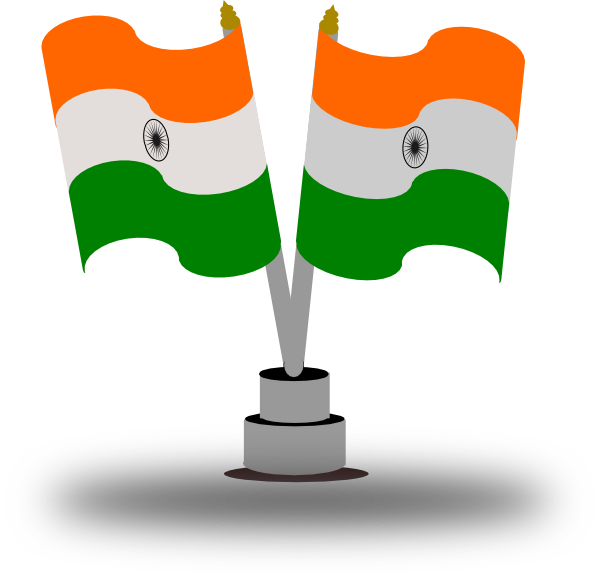 Boy With Indian Flag PNG - 158261
