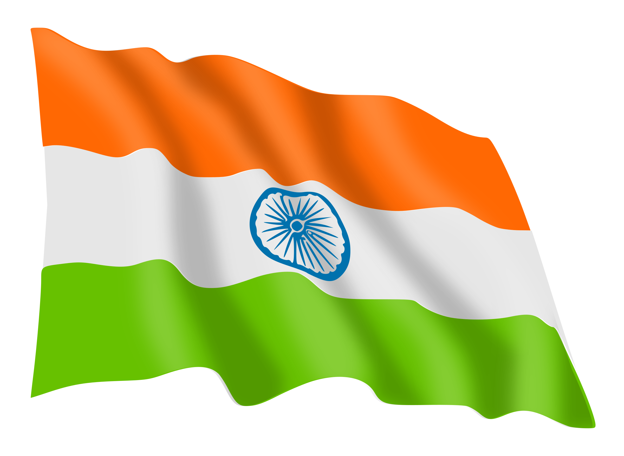 Boy With Indian Flag PNG - 158252