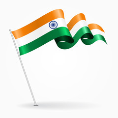 Boy With Indian Flag PNG - 158247