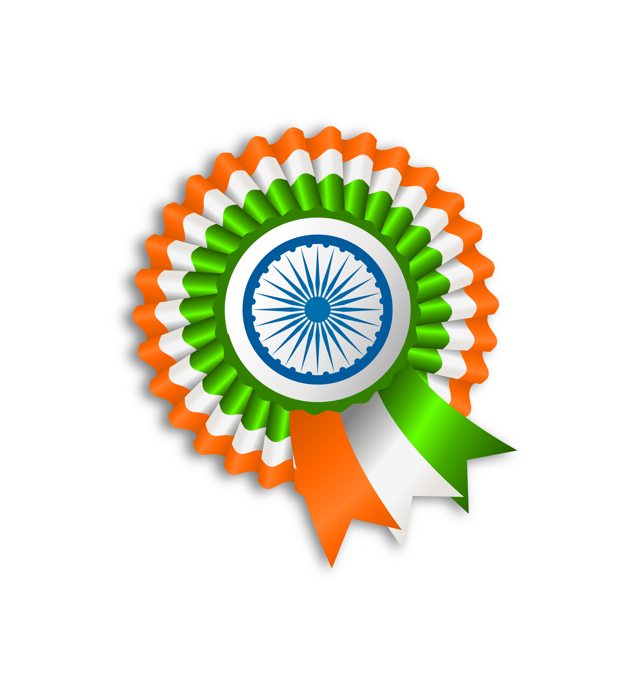 Boy With Indian Flag PNG - 158259