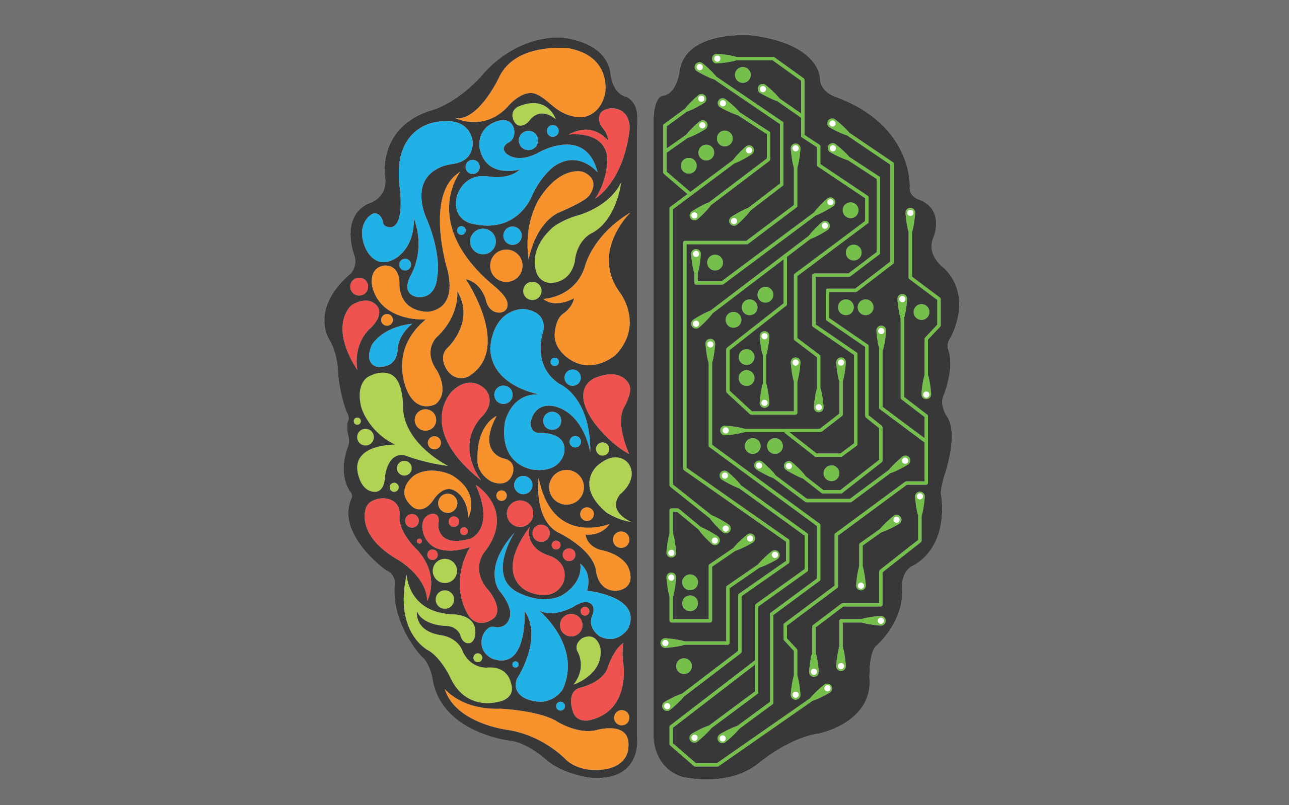 . PlusPng.com two sides of the brain HD Wallpaper 2560x1600 - Brain HD PNG