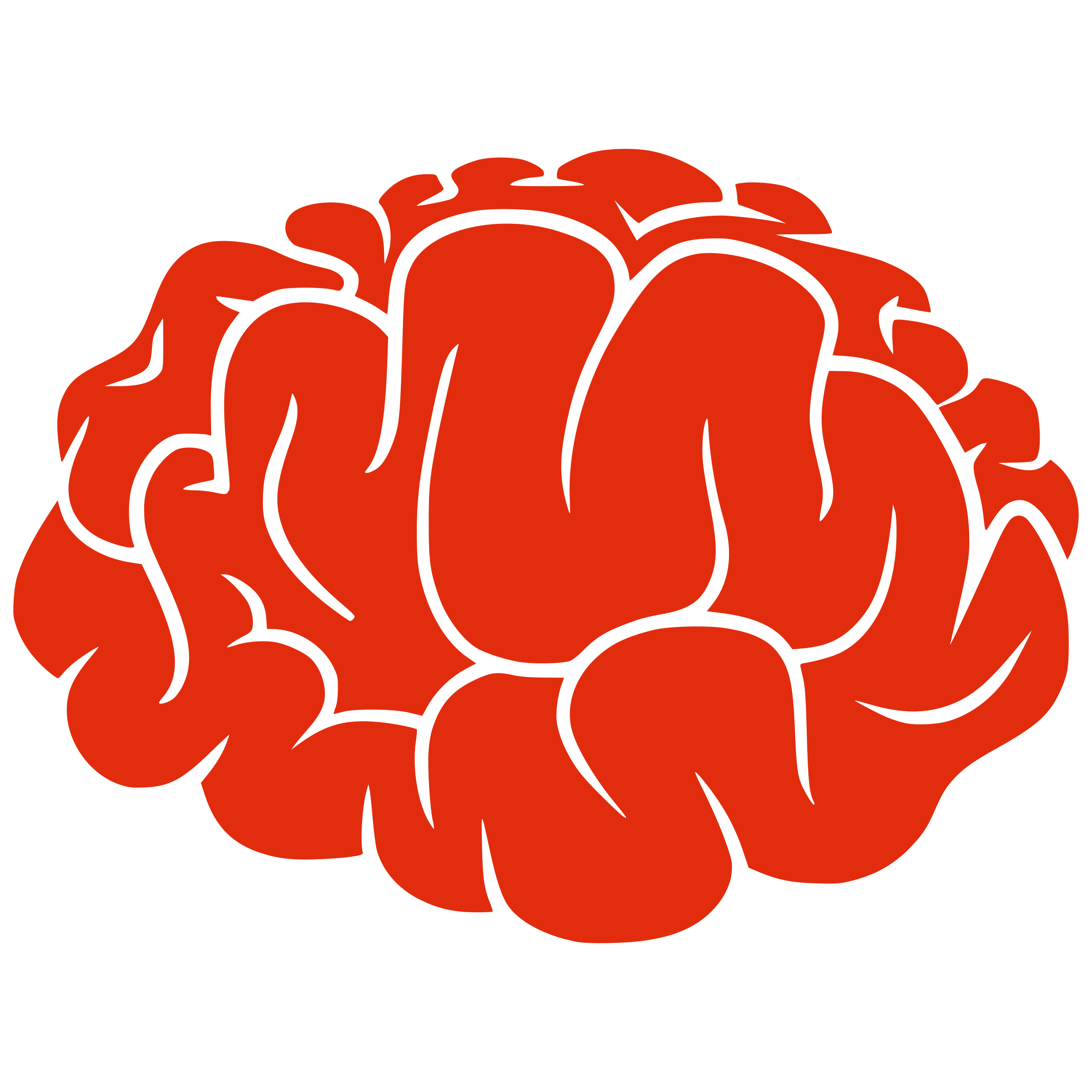 Red Brain image #2540 - Brain PNG