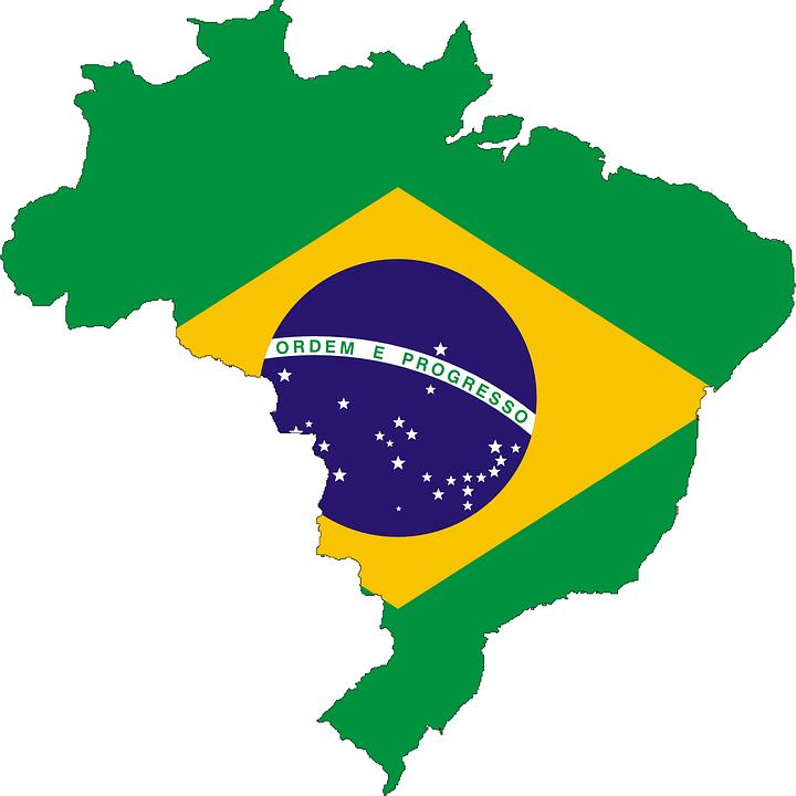 Brazil, Flag, Map, Symbol, Brazilian, Country - Brazil PNG