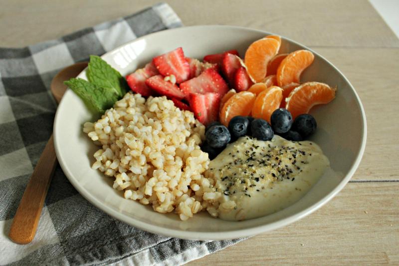 Brown Rice Breakfast Bowl // Lean, Clean, PlusPng.com  - Breakfast Bowl PNG