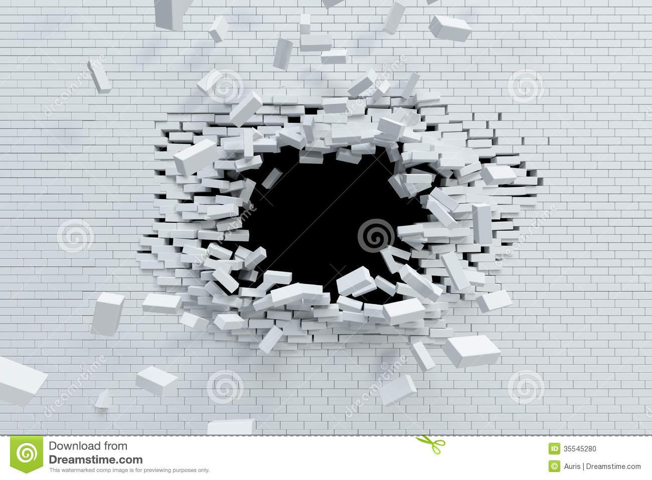 Breaking Through Brick Wall PNG - 162463