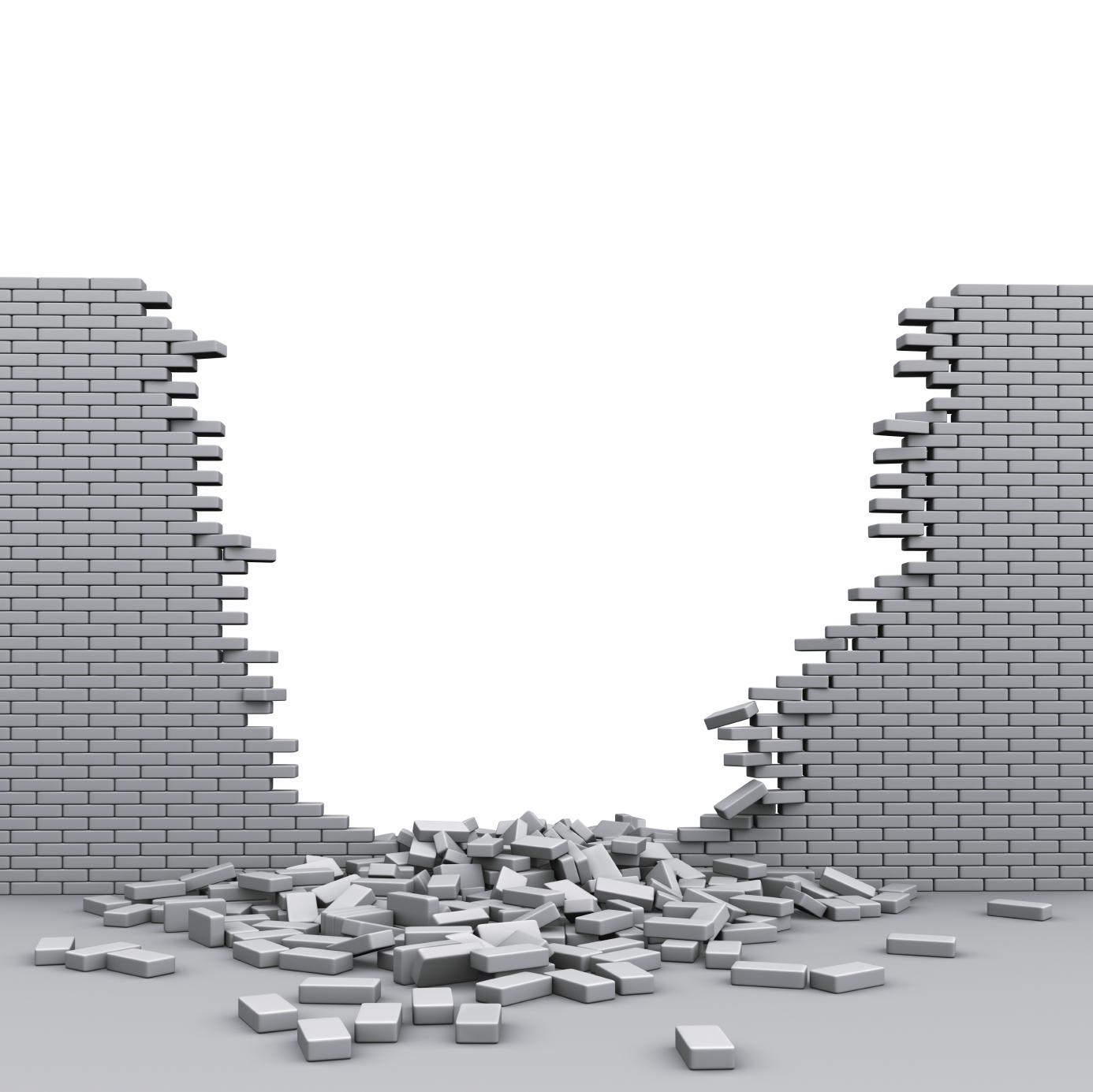 Breaking Through Brick Wall PNG - 162465