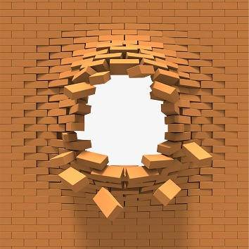 Breaking Through Brick Wall PNG - 162455
