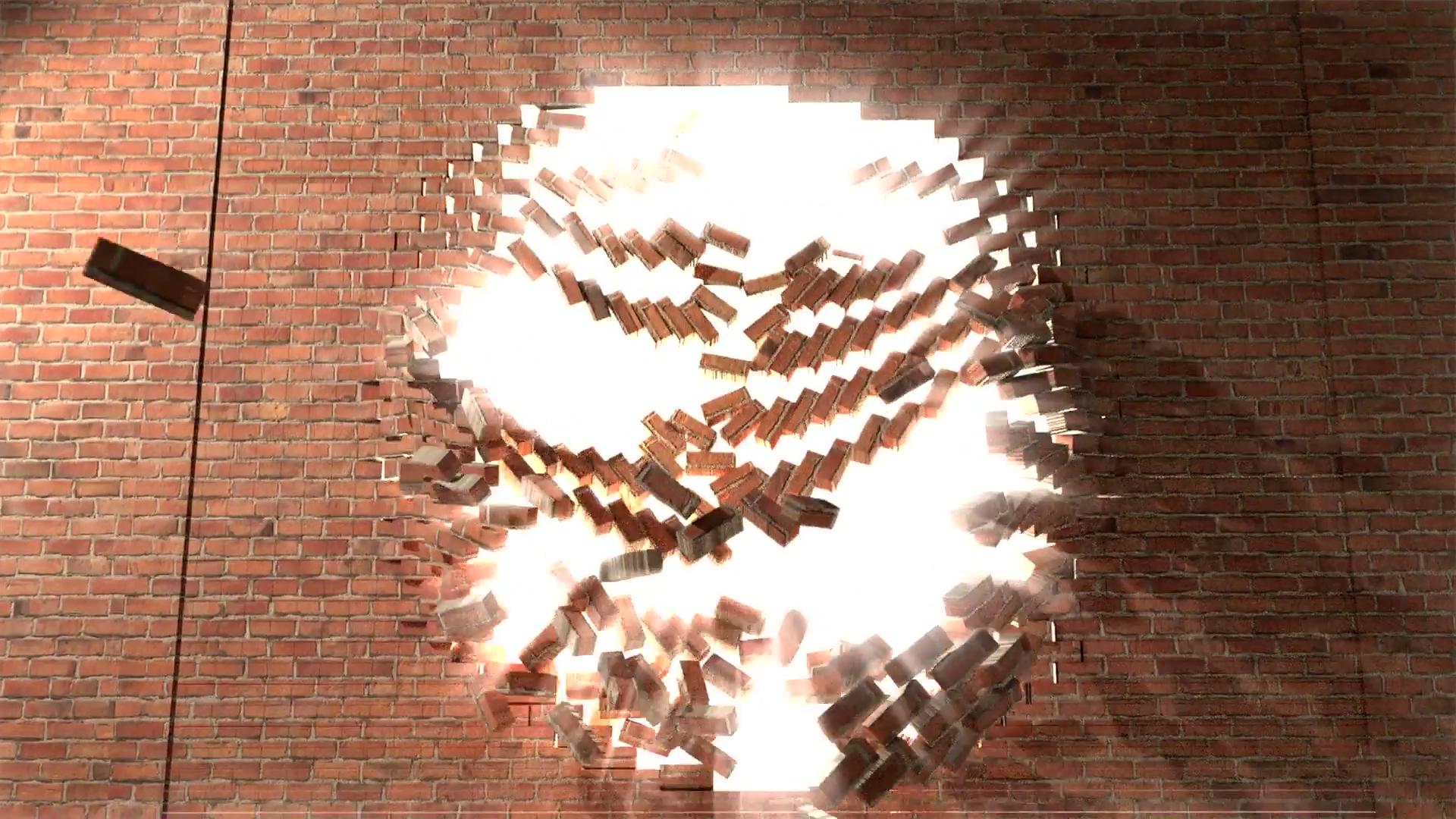 Breaking Through Brick Wall PNG - 162460