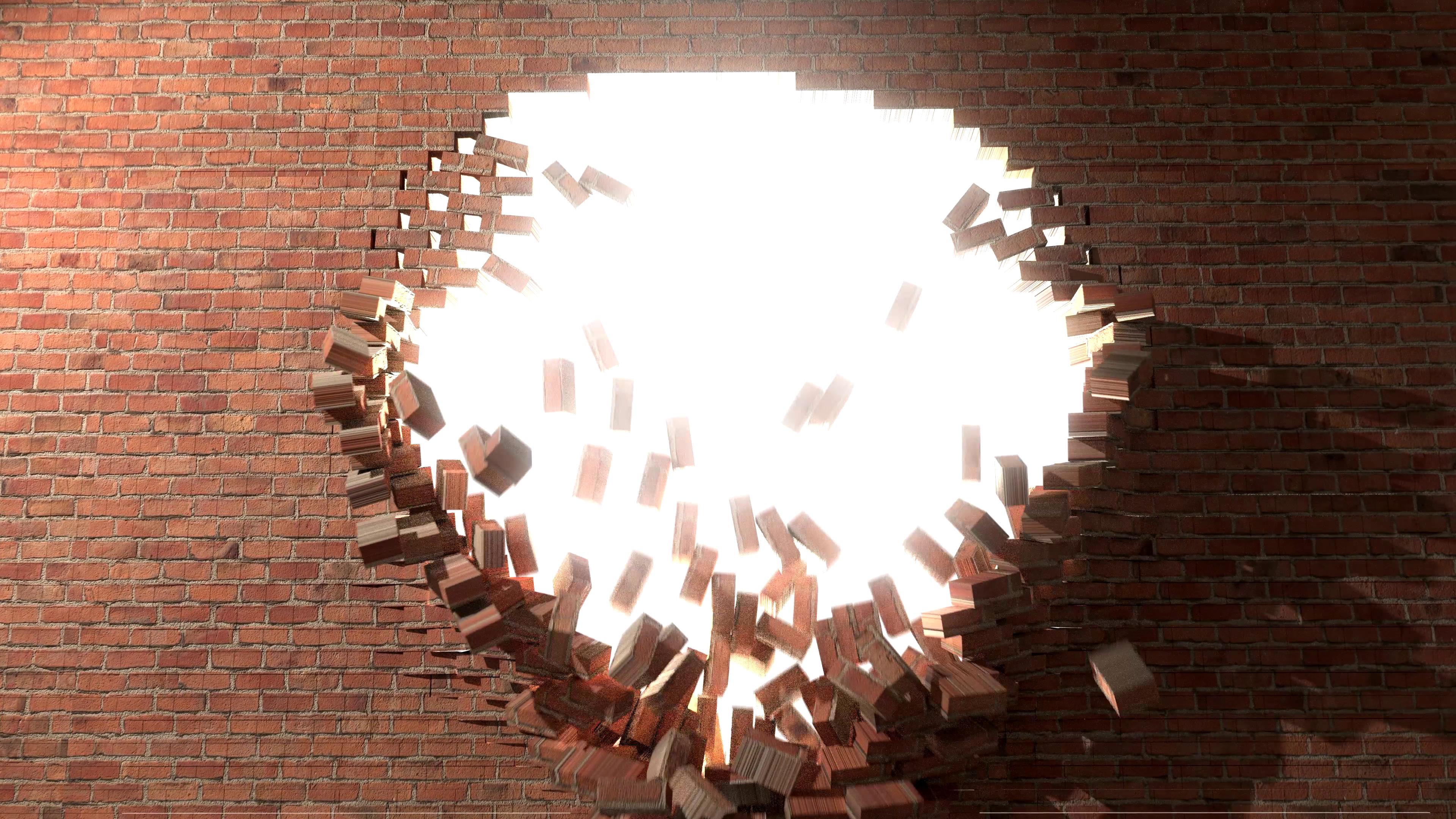 Breaking Through Brick Wall PNG - 162452