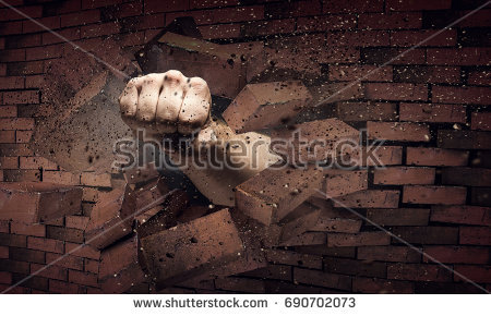 Breaking Through Brick Wall PNG - 162469