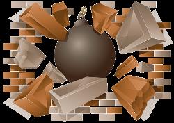 Breaking Through Brick Wall PNG - 162461