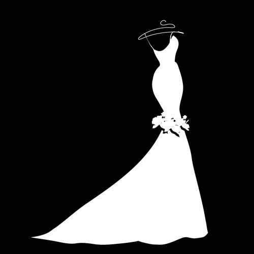 beautiful wedding dress silhouette clipart - Bridal Gown Silhouettes PNG