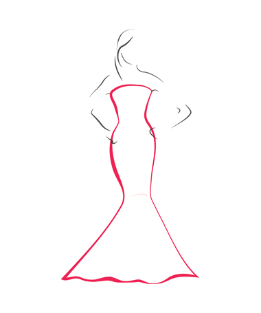 Fishtail Dresses - Bridal Gown Silhouettes PNG