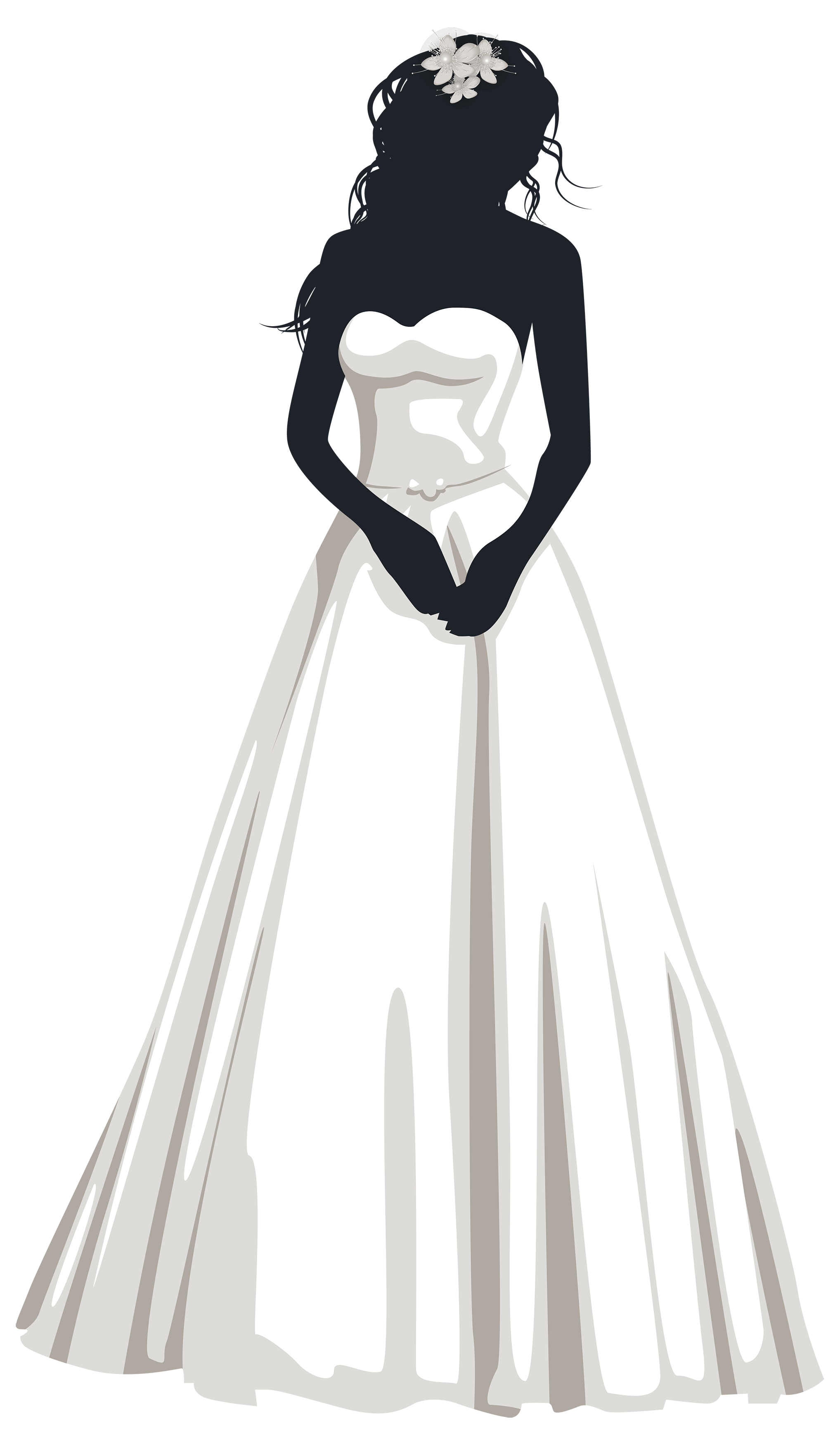 pin Bride clipart silhouette #12 - Bridal Gown Silhouettes PNG