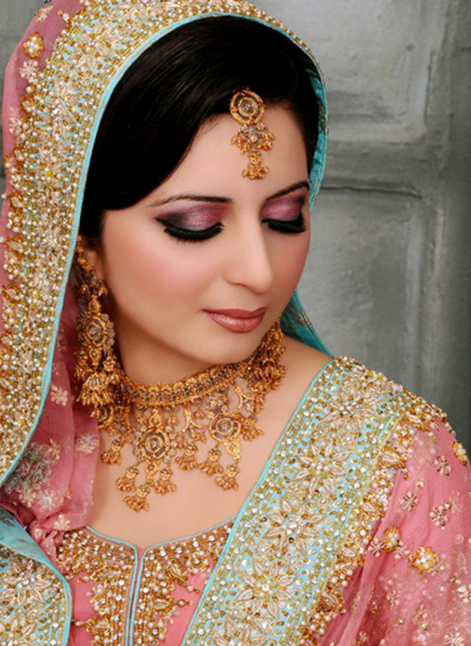 . PlusPng.com free hd wallpapers beautiful stani bridal makeup 2016 indian bridal  makeup PlusPng.com  - Bride HD PNG