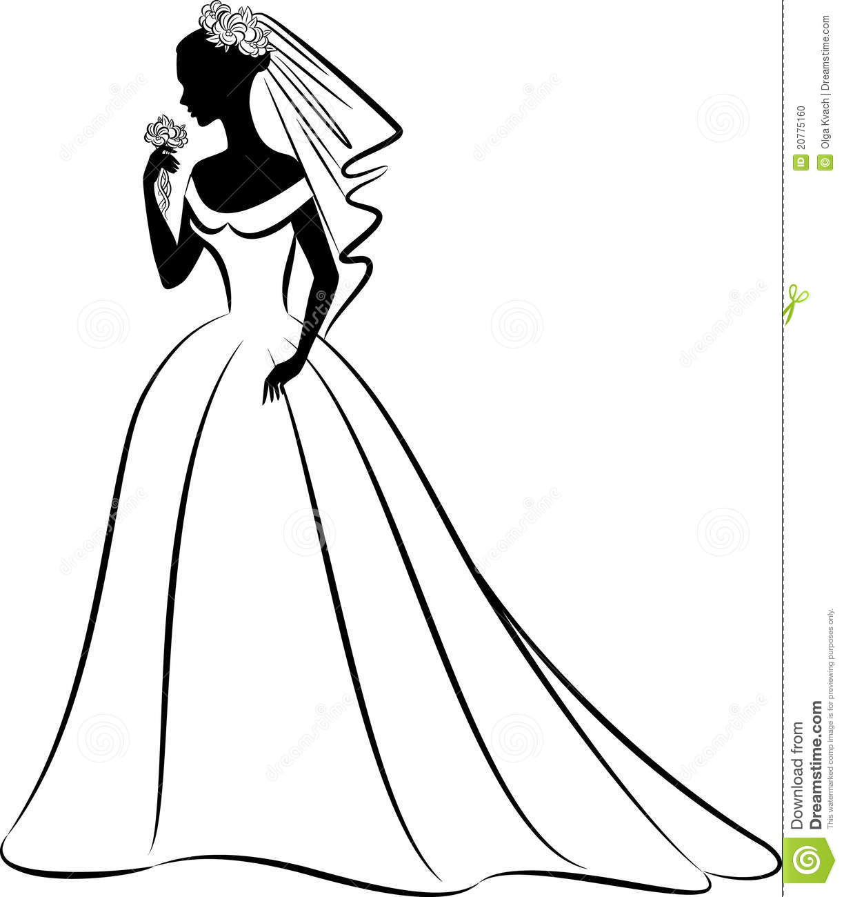 Bride PNG Black And White - 157302