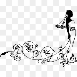 Bride PNG Black And White - 157303