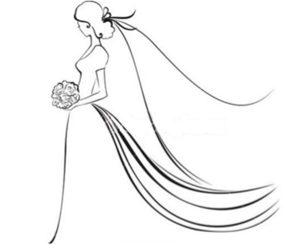 Bride PNG Black And White - 157301