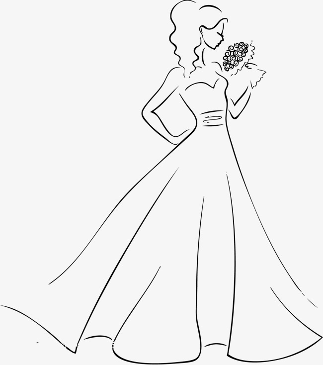Bride PNG Black And White - 157304