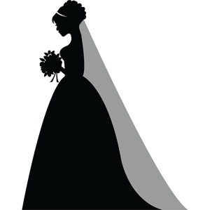 Bride PNG Black And White - 157299