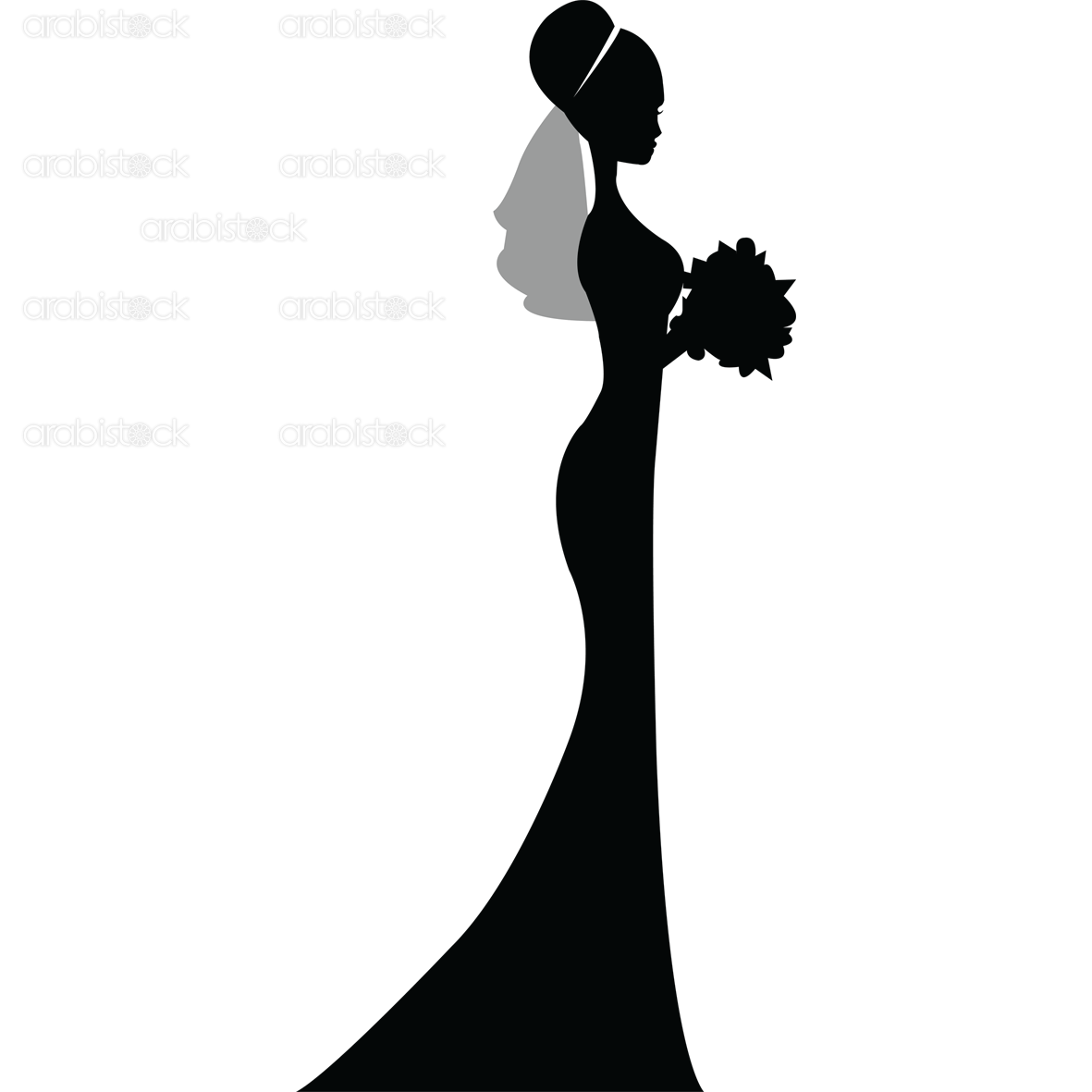 Bride PNG Black And White - 157298