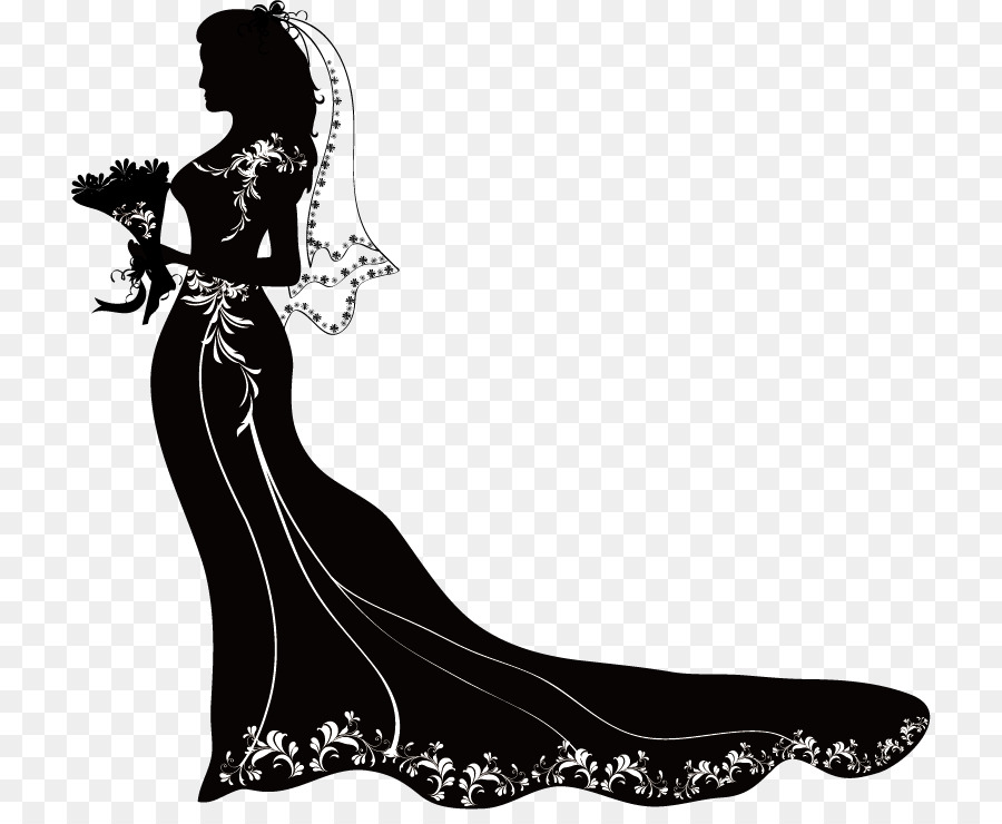 Bride PNG Black And White - 157307