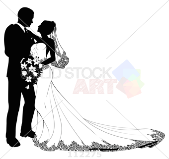 Bride PNG Black And White - 157310
