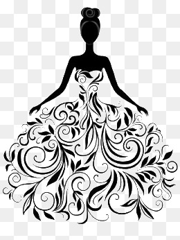 Bride PNG Black And White - 157305