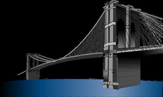 Brooklyn Bridge Suspension Bridge New York - Bridges PNG HD