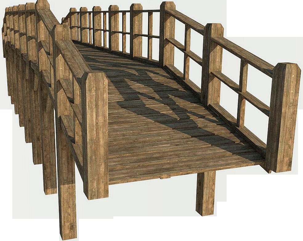 Wooden Bridge 7b |PNG by fumar-porros - Bridges PNG HD