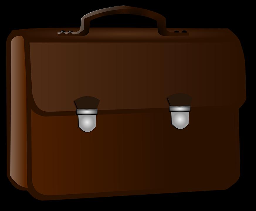Evrak Çantası, Iş, Brown - Briefcase HD PNG