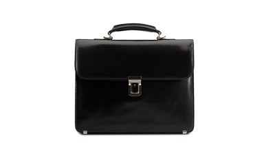 Small Briefcase black leather - Briefcase HD PNG