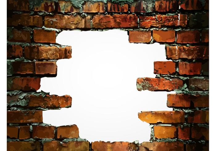 Brick Wall - Broken Brick Wall PNG