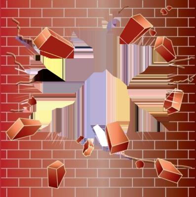 Broken Brick Wall PNG - 165812