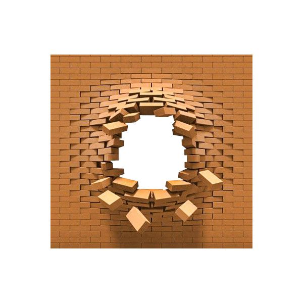 broken brick wall png ❤ liked on Polyvore featuring backgrounds, wall, brick,  frames - Broken Brick Wall PNG