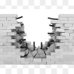 broken wall - Broken Brick Wall PNG