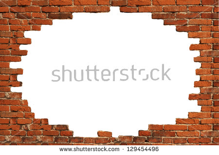 White Hole In Old Wall, Brick Frame - Broken Brick Wall PNG