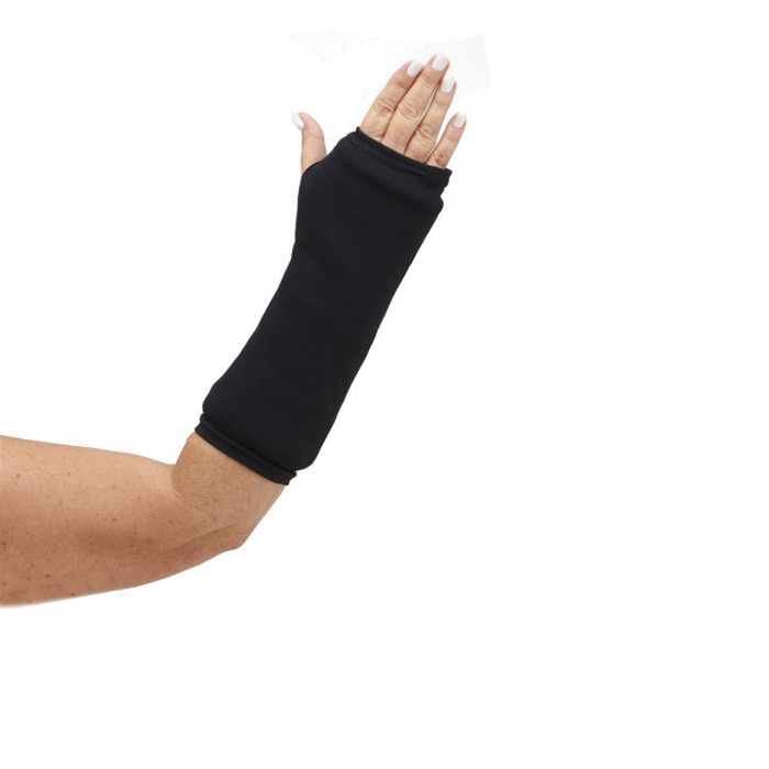 Solid black broken arm cast cover PlusPng.com  - Broken Elbow PNG